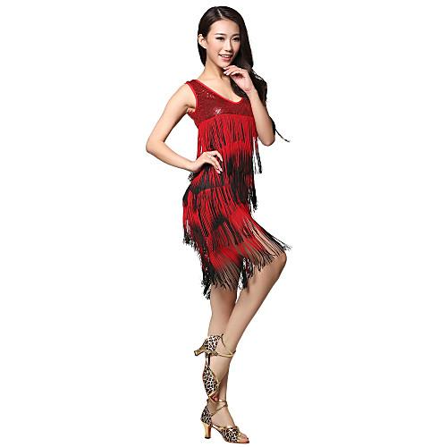 Танцевальная одежда вискоза латинских танцев платье с кистями для дам Lightinthebox 1604.000