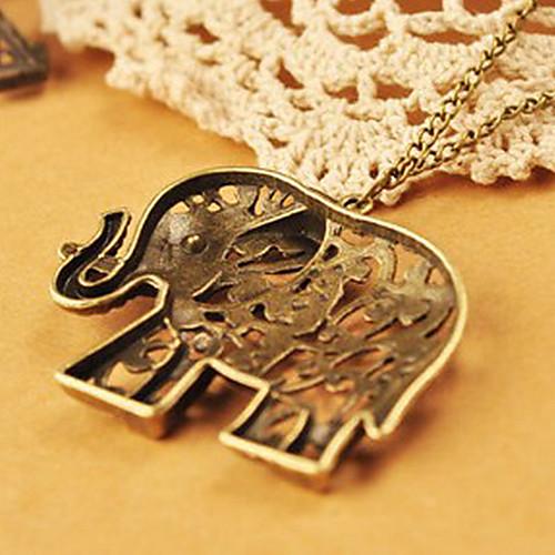 Европейские и американские ювелирные ретро полые резные милые цепь свитера слона N478 Lightinthebox 128.000