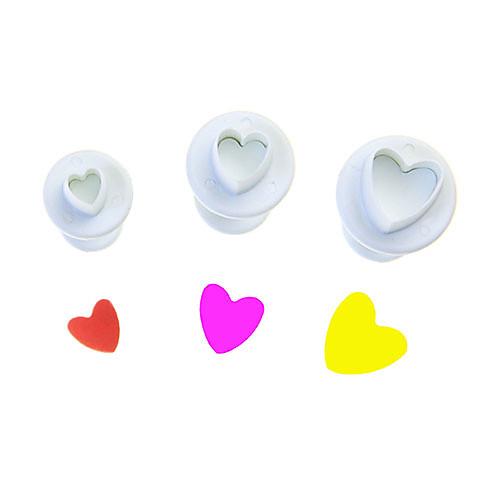 Heart Shaped плунжерных Cookies Cutter комплекте из 3 штук Lightinthebox 85.000