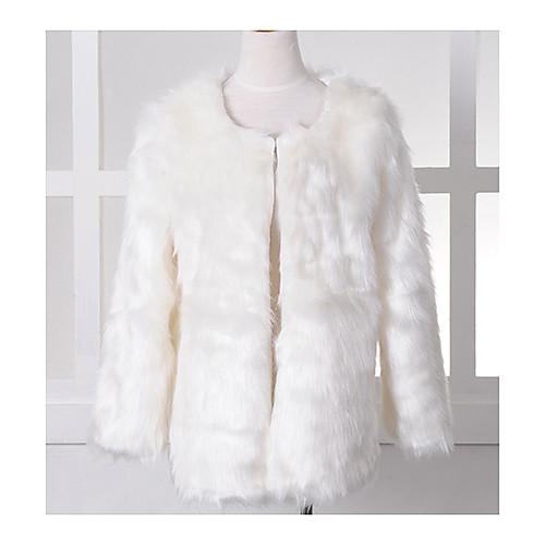 меховой жилет со стильным длинным рукавом воротника в искусственный мех партии / вскользь пальто Lightinthebox 1460.000