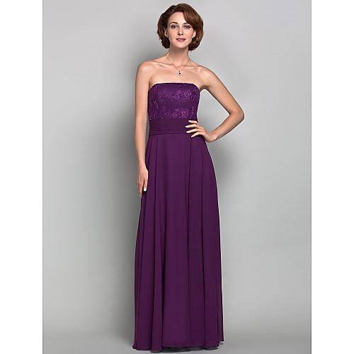 Платье вечернее/для выпускного, без бретелек, длина до пола, материал шифон и кружева