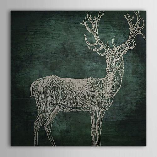 Натянутым холстом Искусство Emerald оленя Цвет хлебобулочные Lightinthebox 1288.000