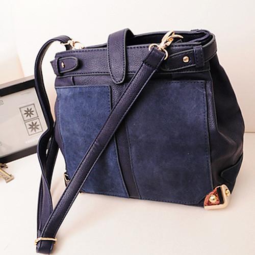 Полис женские синий 2013 Новая модель корейского контрастного цвета Vintage Сумки через плечо плеча Lightinthebox 644.000