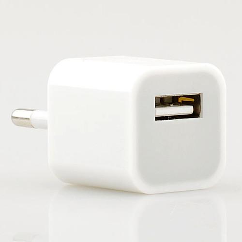 универсальный стандарт ЕС Plug 5V / 1A зеленая точка Сетевой USB-зарядное устройство адаптер для IPhone 4 / 4s, iPhone 5 / 5S Lightinthebox 128.000