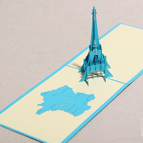 трехмерной Франция Эйфелева башня открытку (больше цветов) Lightinthebox 133.000
