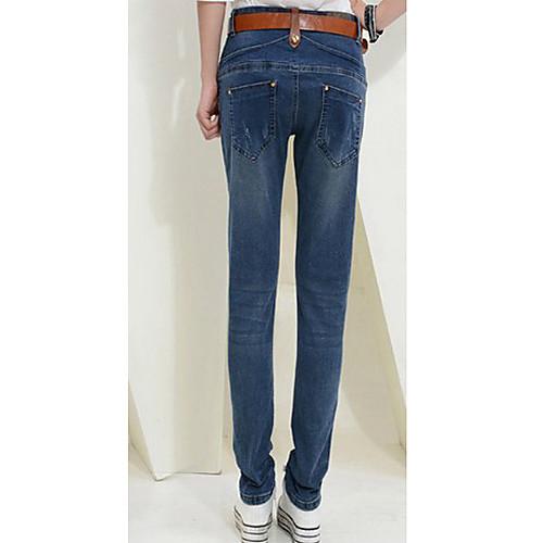 TS простоте случайных тонкая талия среднего разреза промывали карандаш джинсы брюки Lightinthebox 977.000