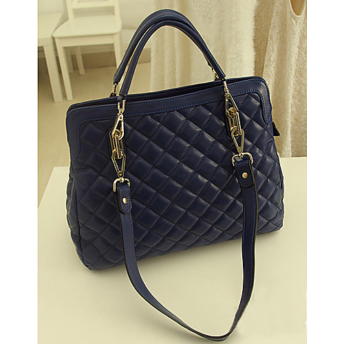 Синий ПОЛИС Женские Гуанчжоу Кожа PU корейского цветового контраста через плечо сумки плеча Lightinthebox 730.000
