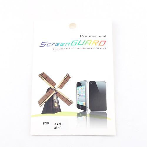 3x ясный протектор экрана фронт для Samsung Galaxy i9500 S4 Lightinthebox 128.000