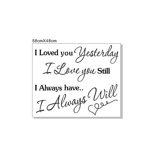 Слова Always Love You стикеры стены Lightinthebox 858.000