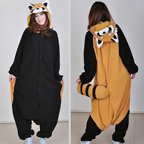 Симпатичные Raccon коричневый и черный флис Kigurumi пижамы пижамы мультфильм животных Хеллоуин костюм Lightinthebox 1503.000
