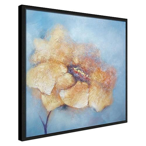 Желтый лепесток цветочные обрамленная картина маслом Lightinthebox 3995.000