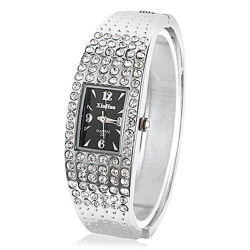 Часы-браслет из серебристого сплава со стразами Lightinthebox 253.000