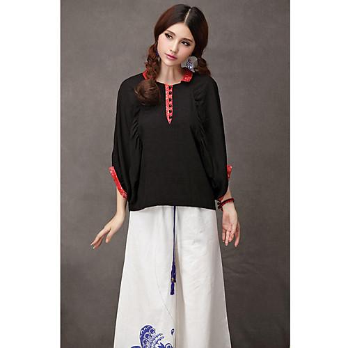 TS этнических китайском стиле летучая мышь залить цветом вершины рукава рубашки Lightinthebox 1954.000