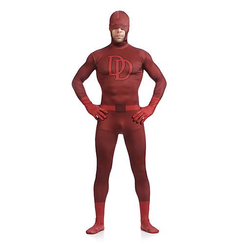 Double D Щавель Супермен Сорвиголова Lycra Spandex Superhero Открытый пол-лица Зентаи Lightinthebox 2148.000
