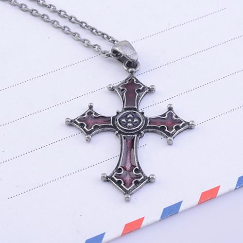 Старинные готические Эмаль Красного Креста ожерелье Lightinthebox 192.000