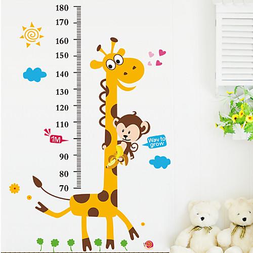 Стикер на стену для измерения роста, мотив-животные Lightinthebox 558.000