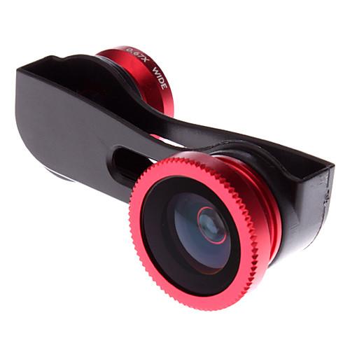 3-In-One быстрой смены объективов с чехол для iPhone 5 (Макро / Рыбий глаз / Super Широкоугольный) Lightinthebox 214.000