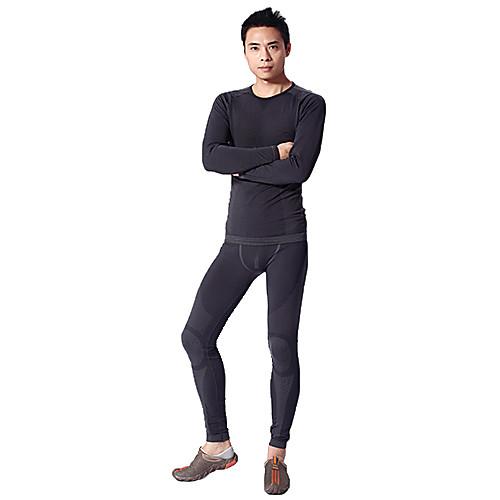 Темно-серый-MAXLAND Мужская тепловой набор нижнего белья (для высоты 165-175)