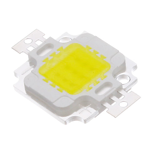 COB 10W 820-900LM 6000-6500K Холодный белый свет Светодиодные Chip (9-12V)