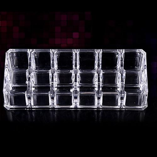 стенд акриловая прозрачная 2x6 QUADRATE косметика хранения макияж кисти горшок косметические организатор Lightinthebox 257.000