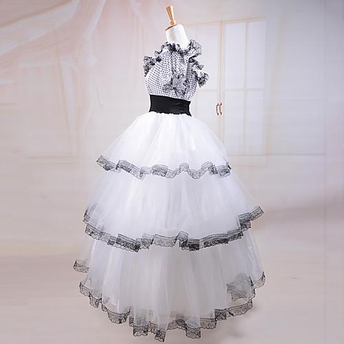 с коротким рукавом южная красавица костюм белого кружева классический Лолита платье