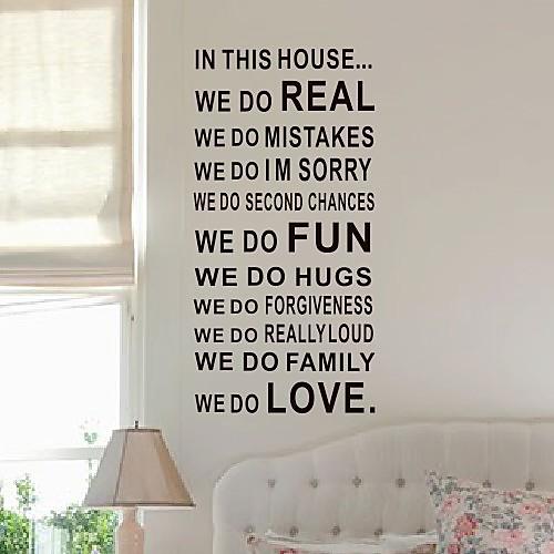 Слова, которые мы делаем в этом наклейки стены комнаты Lightinthebox 1288.000