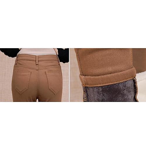 TS простотой основных упругих Velet кофе средней талией джинсы брюки Lightinthebox 977.000