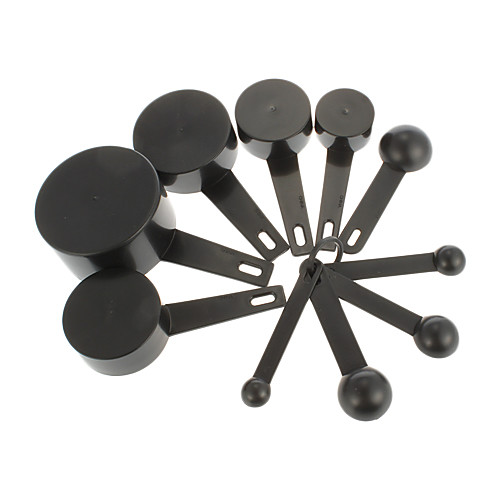 Черный пластиковый измеряя ложки Кубки Измерительный набор инструментов для выпечки Кофе (10pcs/set) Lightinthebox 300.000
