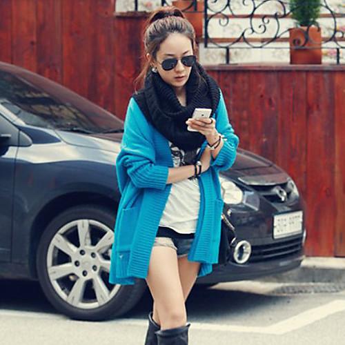 Сплошной цвет Женский свободные пальто Plus