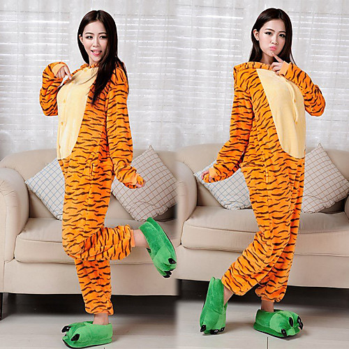 Счастливые фланели взрослых тигра Kigurumi пижамы Lightinthebox 1288.000