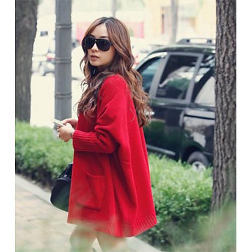 Сплошной цвет Женский свободные пальто Plus Lightinthebox 1033.000