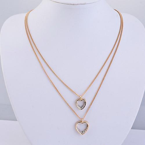 Двойных слоев кристаллов формы сердца Neckalce (другие цвета) Lightinthebox 225.000