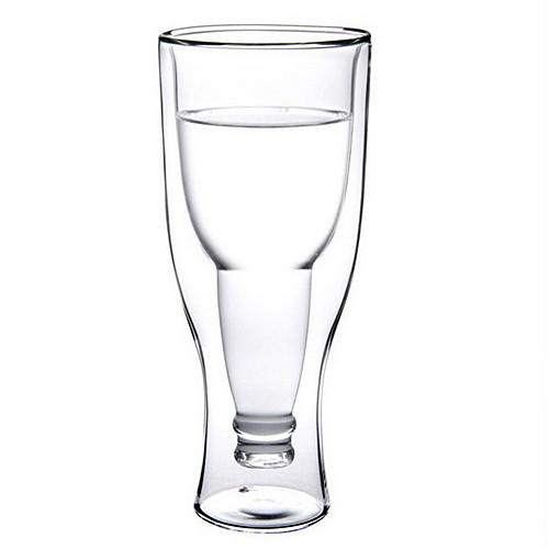 350cc термостойкого стекла Кубок пива Творческие двойными стенками Стеклянная чашка, Win Кубок Большой стакан воды Lightinthebox 407.000