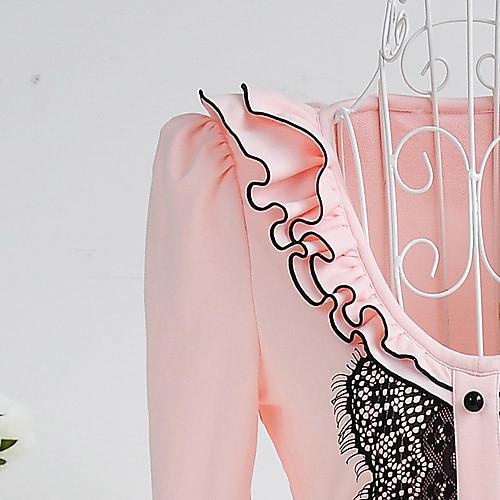 Сладкий Круглый DABUWAWA Женские рюшами Воротник Тонкий футболку Lightinthebox 2433.000