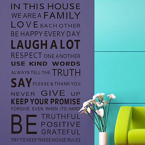 Слова Правила Наши наклейки стены дома Lightinthebox 1288.000