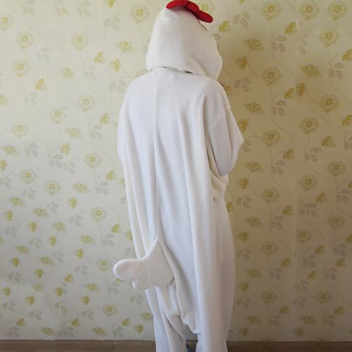 Мужской флис белый петух Kigurumi пижамы Lightinthebox 1718.000