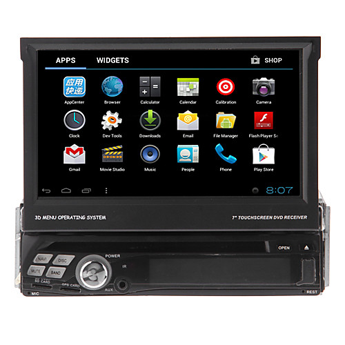 Android 4.0 7-дюймовый TFT экран 1Din В-Dash DVD-плеер с 3G, Wi-Fi, GPS, BT, док, RDS, ТВ Lightinthebox 14180.000