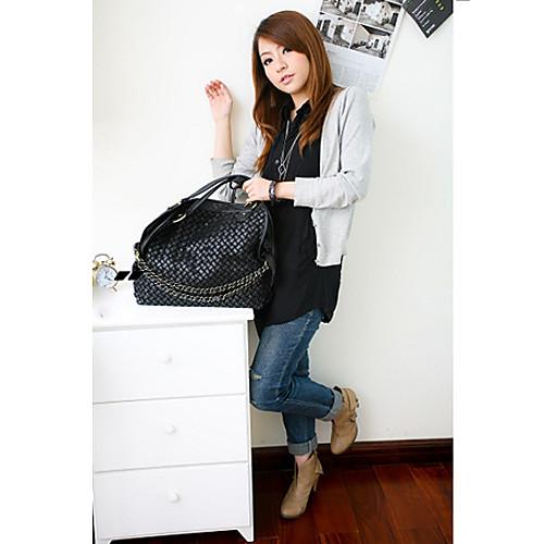 Черный ПОЛИС корейского женского колледжа цветовой контраст конфеты типа цвет мульти Сумки через плечо использование плеча Lightinthebox 601.000