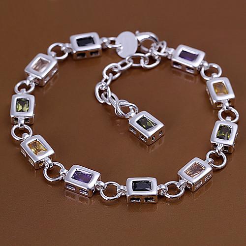 Новый стиль 22.5cm женские серебряные медные браслеты Lightinthebox 472.000