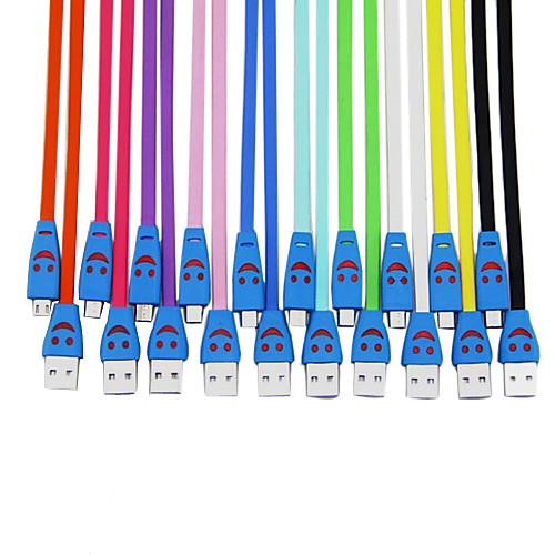 улыбка лицо Micro USB кабель для телефона Samsung mobide Lightinthebox 128.000