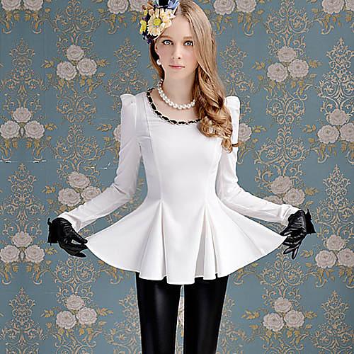 Мода Женщины DABUWAWA Плетеные украшения футболка с длинным рукавом Lightinthebox 3149.000