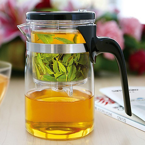 2013 Новый стиль 500 мл Стекло Чайник интегративной и удобный дизайн офиса Чайный сервиз Lightinthebox 235.000