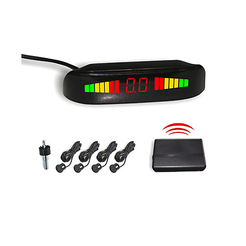 4 беспроводными радар парковочный сенсор системы-светодиодный дисплей и зуммер сигнализации (белый, черный, серебристый) Lightinthebox 1159.000
