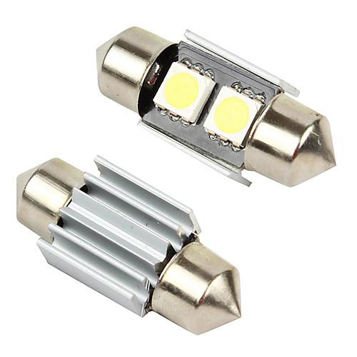 Merdia 2шт 2-SMD Canbus безошибочной купола свет Светодиодные лампы 6411 6418 C5W - белый-LEDD002B2A Lightinthebox 85.000