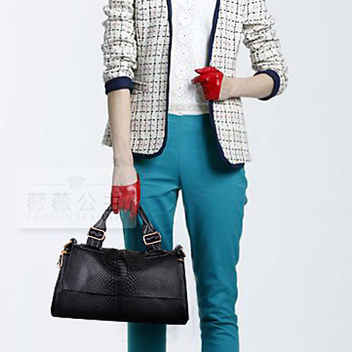 Полис Женские Черный 2013 Новая модель корейской моды чистого цвета сумки плеча Lightinthebox 730.000