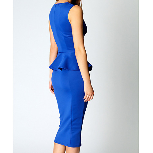 Бато Женские Solid Color Bodycon Midi платье Lightinthebox 977.000