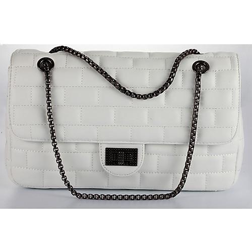Белый Мода ПОЛИС женские повседневные чистый цвет сумки на ремне через плечо Lightinthebox 515.000