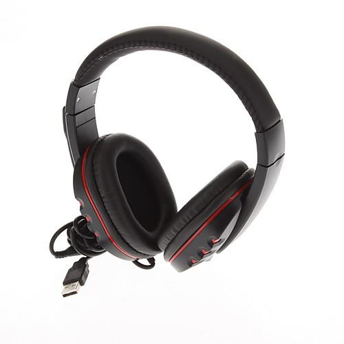Стильные наушники ж / микрофон для PS3 / PS3 Slim / CECH4000 PS3 - черный  красный Lightinthebox
