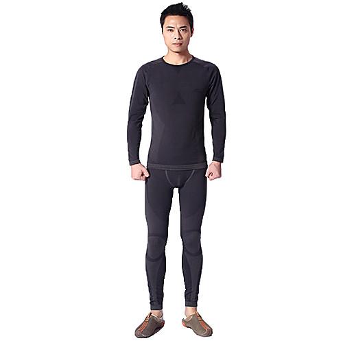 Темно-серый-MAXLAND Мужская тепловой набор нижнего белья (для высоты 165-175) Lightinthebox 2663.000