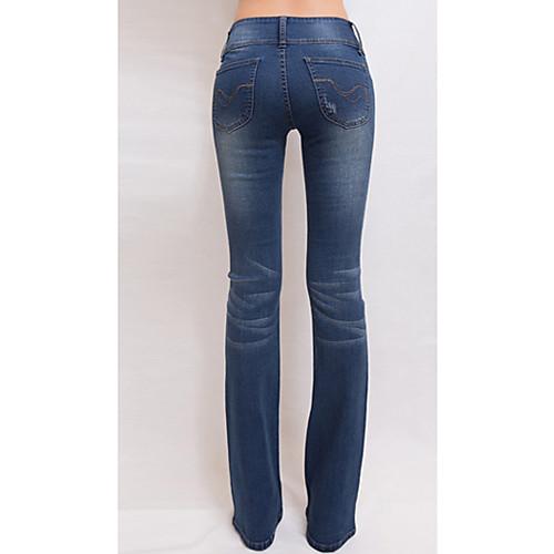 TS Vintage Тонкий Cut Вспышки Ближнем Талия мыть джинсы Lightinthebox 977.000